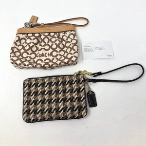 2 new Coach wristlets - Coated canvas CC and Knit